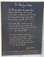 Plaque – Bronzed plaque of original poem paper