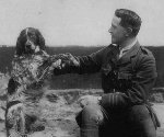 Bonneau – John McCrae and his dog Bonneau in France (photo: National Archives of Canada, C46284).  Bonneau was another of his animal companions and was also a casualty of the war, who had adopted John McCrae as his special friend.