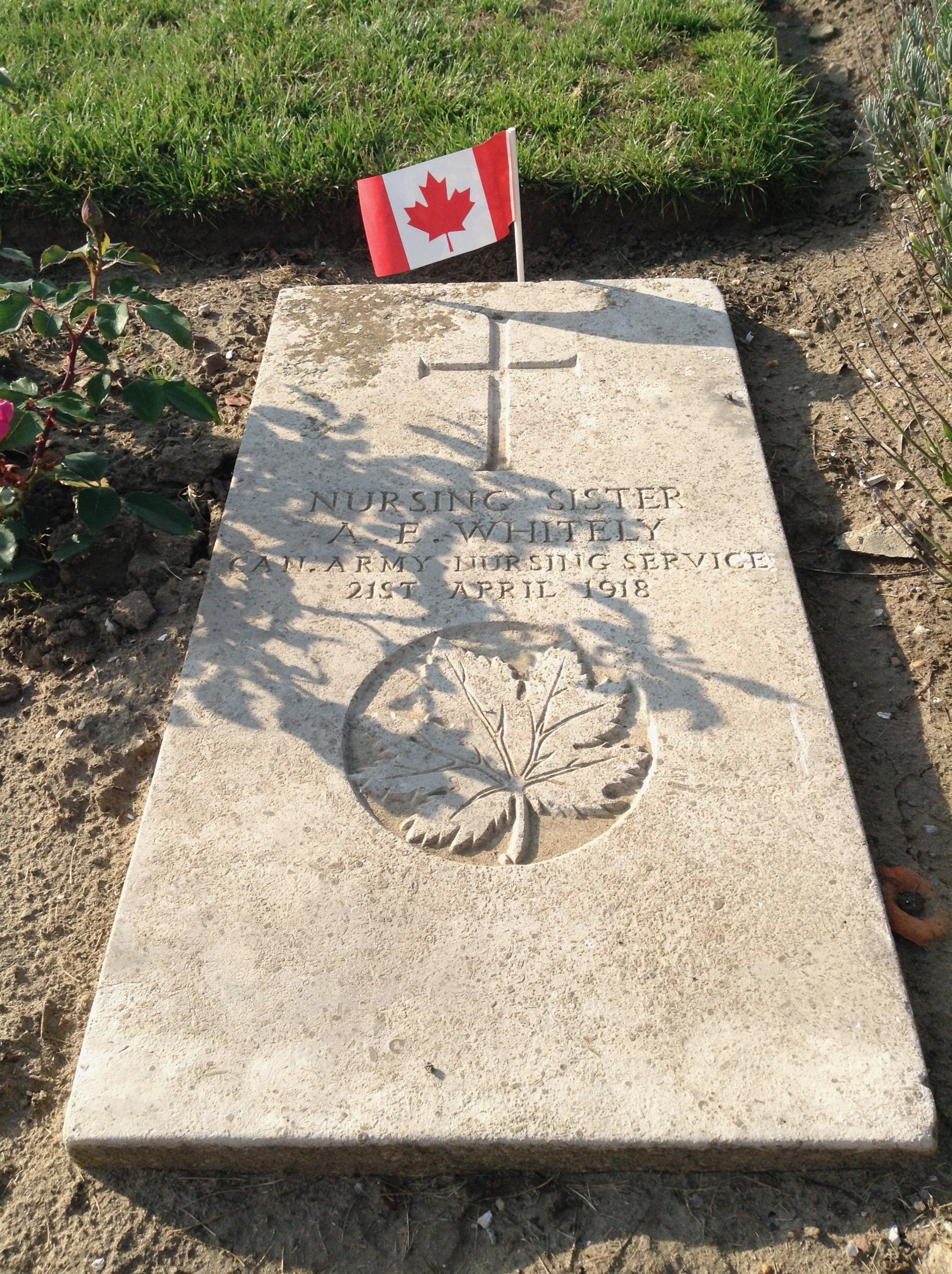 Grave Marker – I took this photo during a tour of Canadian Battlefields.  She is not forgotten.