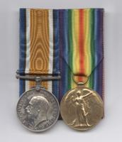 Medals – British War Medal and Victory Medal awarded posthumously to George Lawrence Price. The Price family of Port Williams NS, donated his medals and plaque to the Kentville branch of the Royal Canadian Legion in the 1960's or 70's. In July 2016, the Kentville Legion, with the support of Price's descendants, donated these artifacts to the Canadian War Museum in Ottawa where they now appear as part of the First World War Gallery.