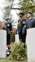 Paying respects – The Governor General along with other dignitaries, laid a flowers and a wreath  on the tomb of Private Price at the St. Symphorien Military Cemetery on Nov 10, 2018. Private George Lawrence Price, of the Canadian Infantry (Saskatchewan Regiment), fell on November 11, 1918, about two minutes before the signing of the Armistice.