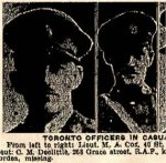 Newspaper Clipping – These photos of Toronto Officers in the casualty lists were published in the Toronto Star on October 17th, 1918.