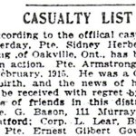 Press clipping – Appeared in the Hamilton Spectator on May 4, 1916.