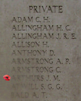 Memorial – Inscription on the Menin Gate … photo courtesy of Marg Liessens