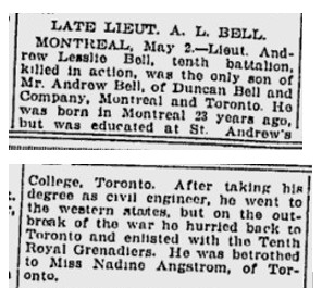 Newspaper Clipping – The Ottawa Citizen, May 3, 1915. Page 10