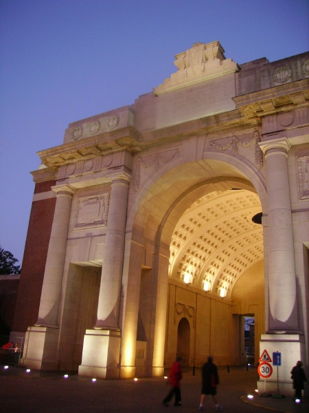 Memorial – Menin Gate - October 2009 … photo courtesy of Marg Liessens