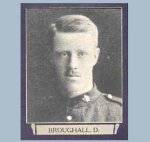 "Photo of Deric Broughall – From ""The War Book of Upper Canada College"", edited by Archibald Hope Young, Toronto, 1923.  This book is a Roll of Honour including former students who served during the First World War."