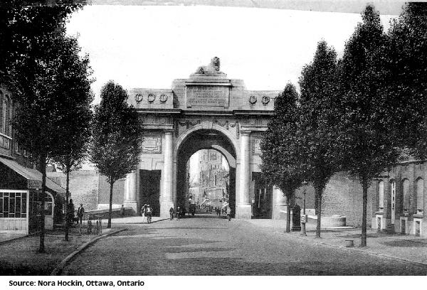 Postcard of the Ypres (Menin Gate) Memorial