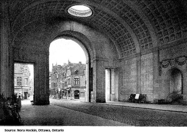 Inside the Ypres (Menin Gate) Memorial