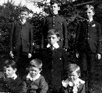 Charles and his brothers – Charles and his brothers, London Ontario, 1908.  Left to right.  Back row:  Cyril, Charles, Ralph.  Front row:  Eric, Percy, Ernie, Gerald.  Cyril, Charles, Ralph, Ernie and their eldest sister Frances enlisted in the Canadian Expeditionary Force.