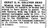 Newspaper Clipping – From the Toronto Star for 2 April 1917, page 5.