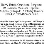 Biography - page 1 – Biography courtesy of the Lest We Forget remembrance initiative of the Smith Falls District Collegiate.