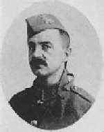 """Photo of James Delosh – Photo taken from """"A Short History and Photographic Record of the 73rd Battalion, Canadian Expeditionary Force, Royal Highlanders of Canada"""" Page 29.  'C' Company.  No. 9 Platoon."""