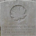 Gravemarker – Tombstone in Aubigny communal cemetery near Arras, France.