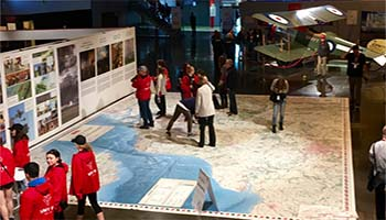 Giant floor maps recreate the First World War in the classroom