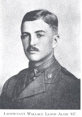 Lieutenant Wallace Llyod Algie, recipient of the Victoria Cross for his actions on 11 October 1918, during the Last Hundred Days.