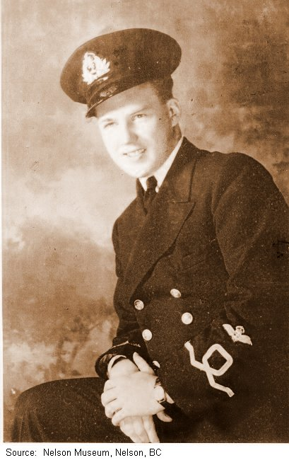 Lieutenant Robert Hampton Gray, taken when he received his pilot wings in September 1941. Photo: Nelson Museum, Nelson, BC