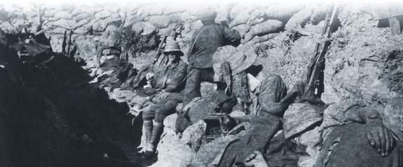 Newfoundlanders in their trenches at Gallipoli