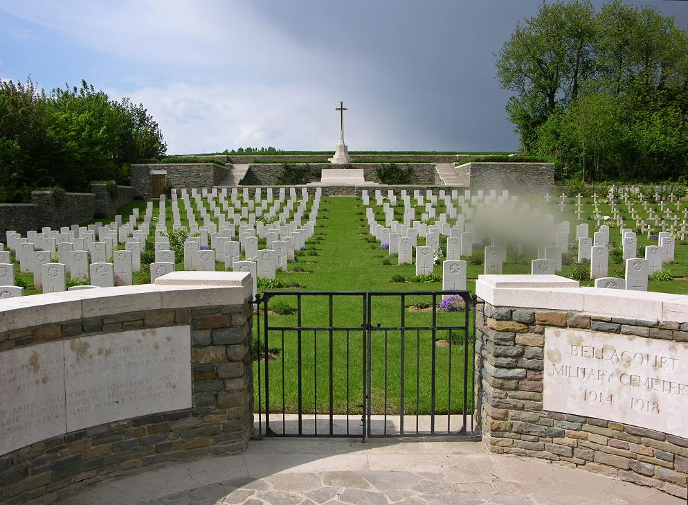 Bellacourt Military Cemetery, France