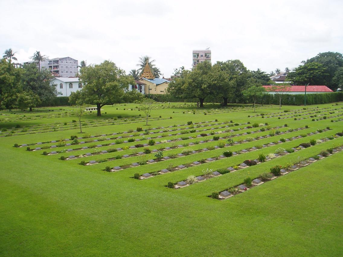 Rangoon War Cemetery, Myanmar (formerly Burma)