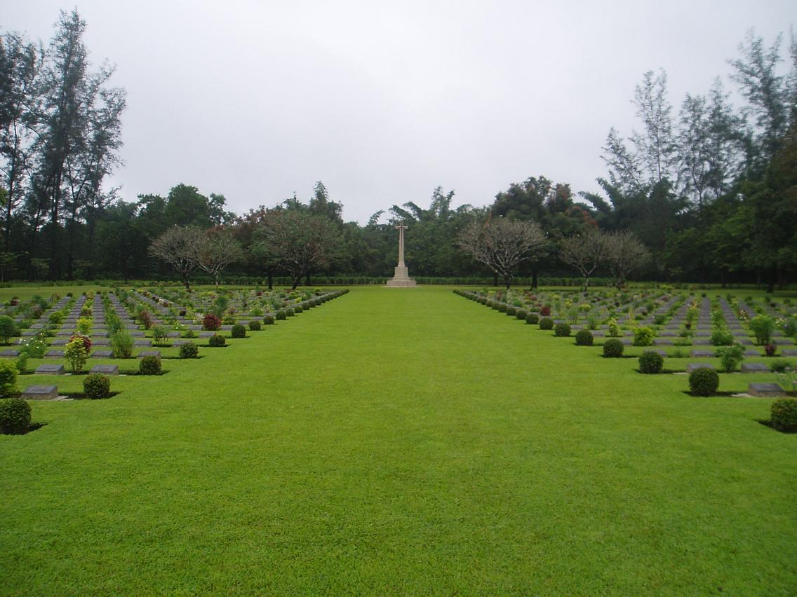 Thanbyuzayat War Cemetery, Myanmar (formerly Burma)