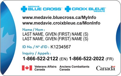 Blue cross card