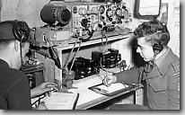 Personnel of RCASC operating a wirerless set.  November 1951