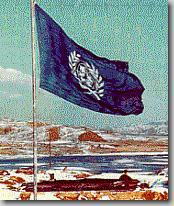 United Nations Flag over Imjin River, February 1952