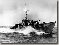 A British motor gunboat at sea