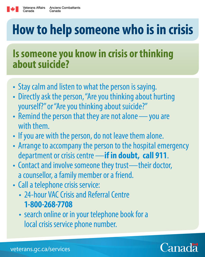 How to help someone who is in crisis