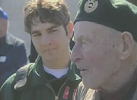 Young Candian with a Veteran in France