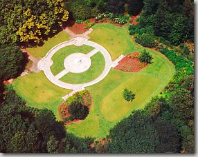 Aerial view of Bourlon Wood Canadian Memorial