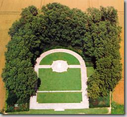 Aerial view of Dury Canadian Memorial