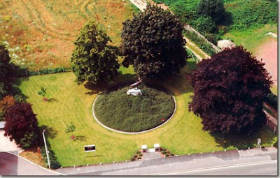 Aerial view of Masnières Newfoundland Memorial