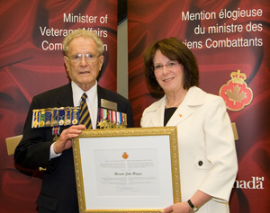 Mr. Harold Hague and Suzanne Tining, Deputy Minister, Veterans Affairs Canada