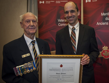 The Honourable Steven Blaney, Minister of Veterans Affairs, and Horace Gerrard