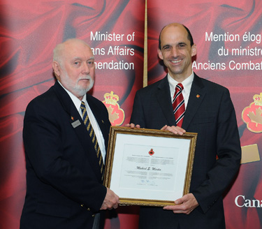 The Honourable Steven Blaney, Minister of Veterans Affairs and Michael Martin