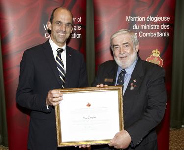 The Honourable Steven Blaney, Minister of Veterans Affairs and Tom Douglas