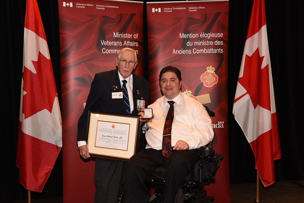 The honorable Kent Hehr, Minister for Veterans Affairs, and James Gratto