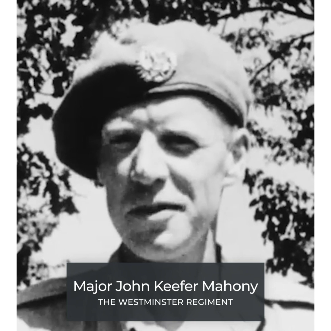 Major John Keefer Mahony -The Westminster Regimen