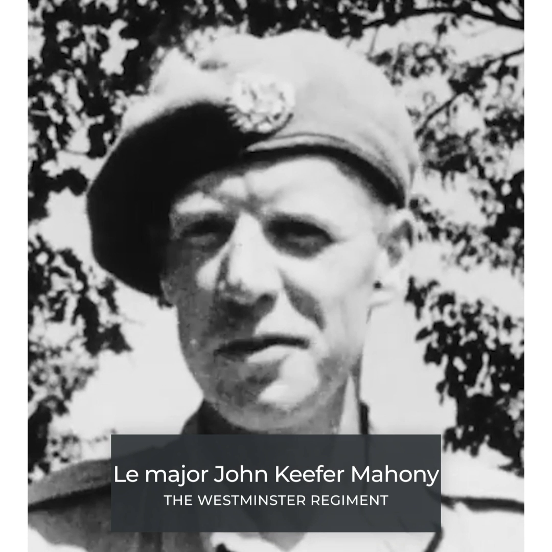 Le major John Keefer Mahony -The Westminster Regimen