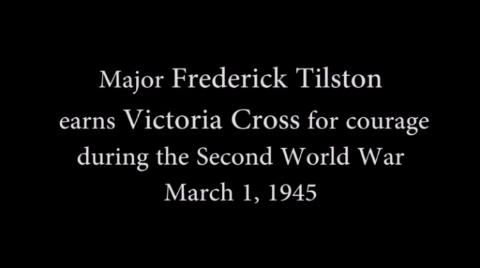 Major Tilston wins Victoria Cross