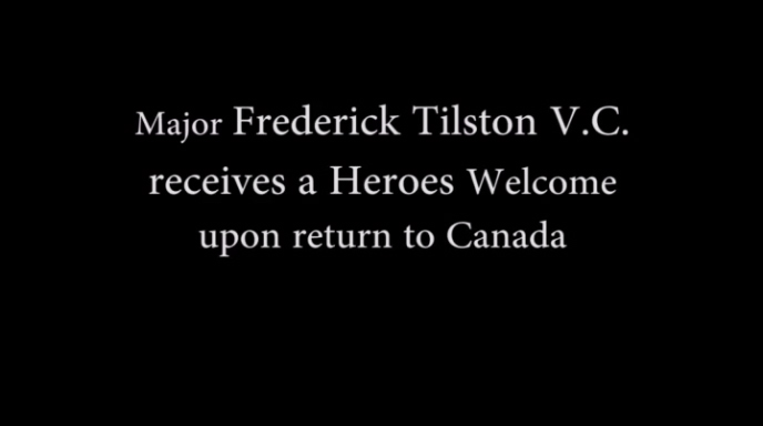 Major Tilston receives Heroes Welcome