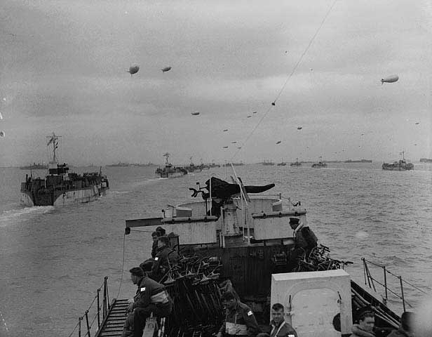 Landing craft in the English Channel