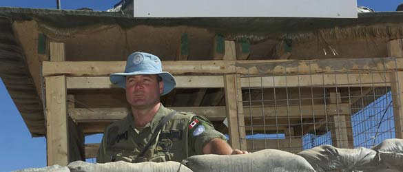Canadian peacekeeper at United Nations observation post in Senafe, Eritrea.