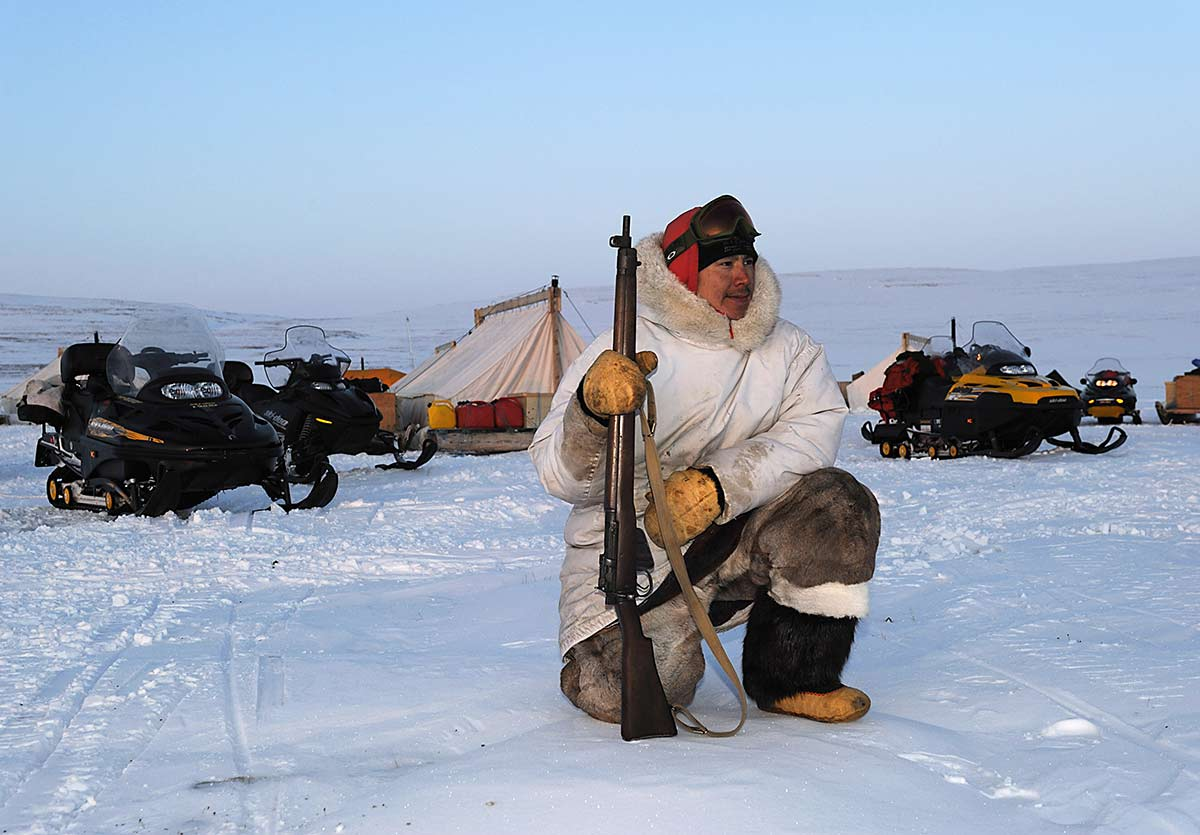 A Canadian Ranger during a patrol in Nunavut in 2012.