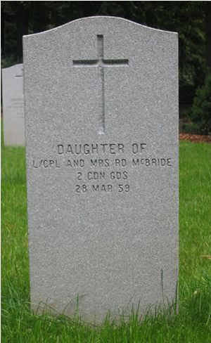 Headstone of Infant Daughter McBride