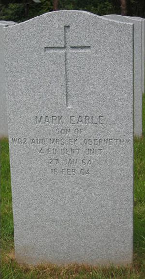 Headstone of Mark Earle Abernethy