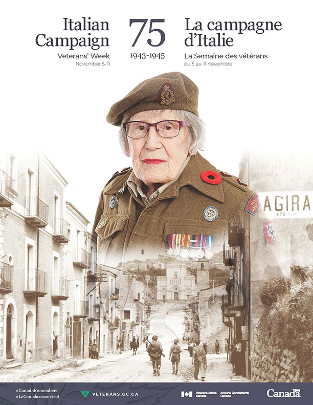 Special commemorative poster features Lieutenant Maxine Llewelyn Bredt