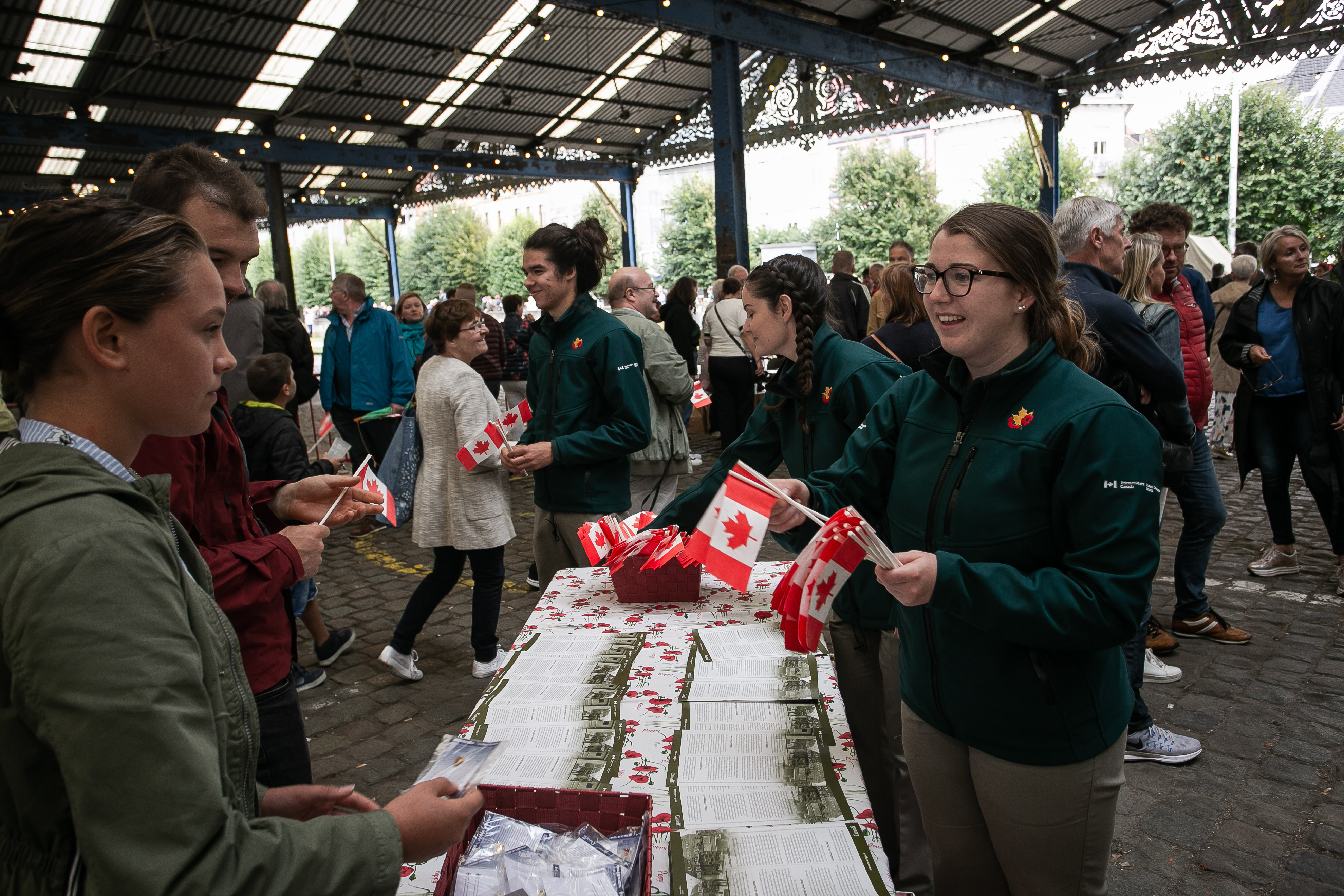 Claire Belliveau interacted with Belgian locals who visited the Liberation Village and the interactive Canadian Exhibit  earlier this year in Antwerp, Belgium.""